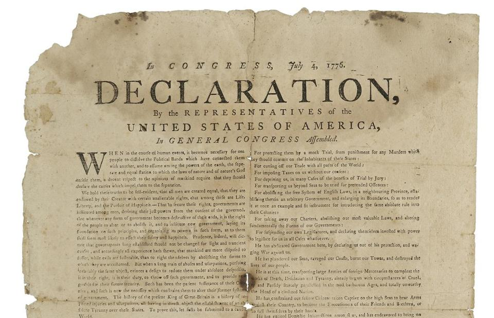 اعلامیه استقلال Declaration of Independence